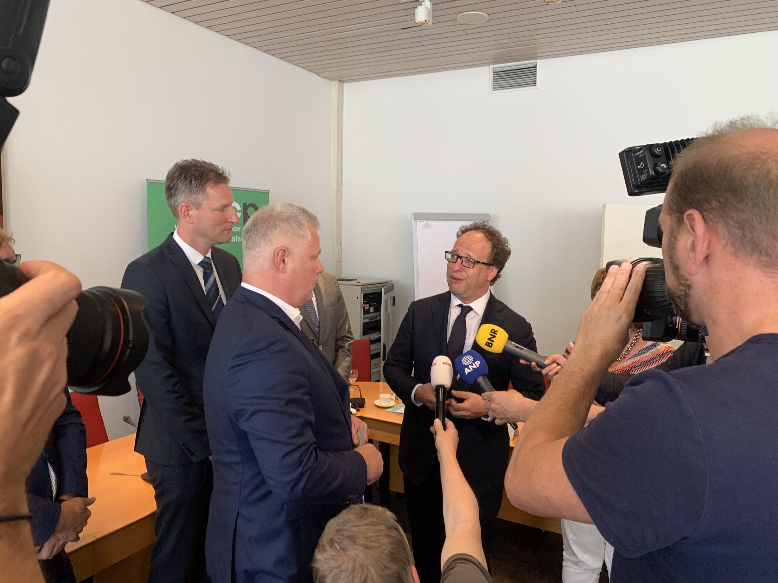 Ruud Stegers, Gerrit van de Kamp en Wouter Koolmees